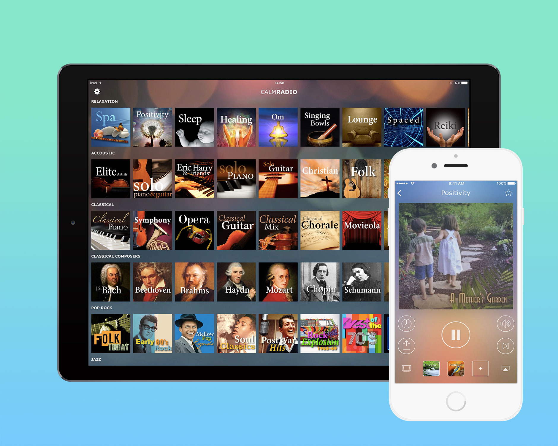 Calm Radio for iPhone and iPad - Developed by Ben Dodson