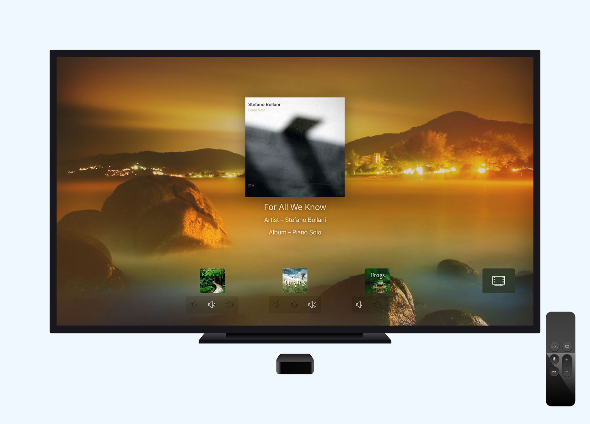 Calm Radio for Apple TV - Developed by Ben Dodson