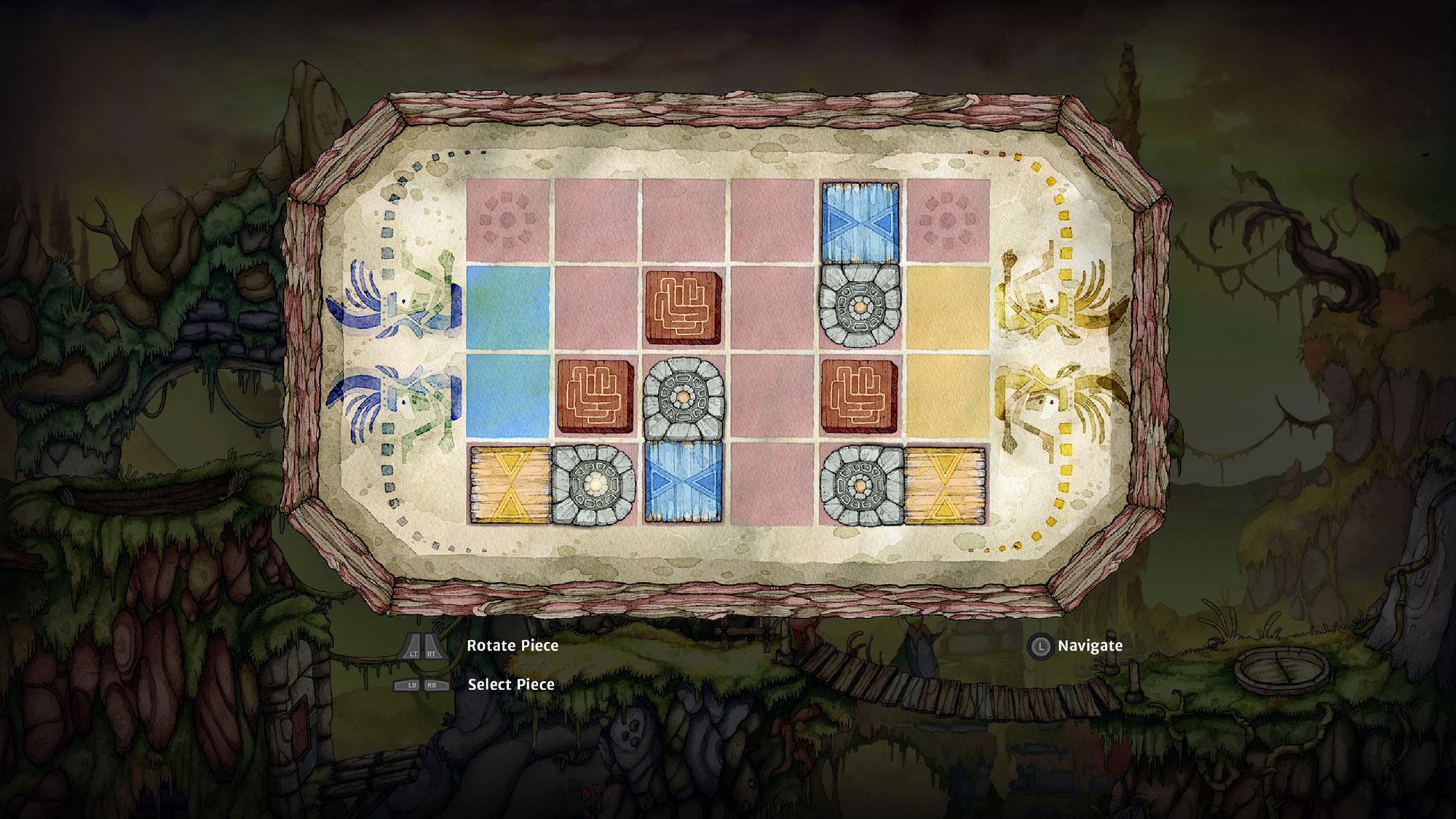 There are minigame-style puzzles throughout
