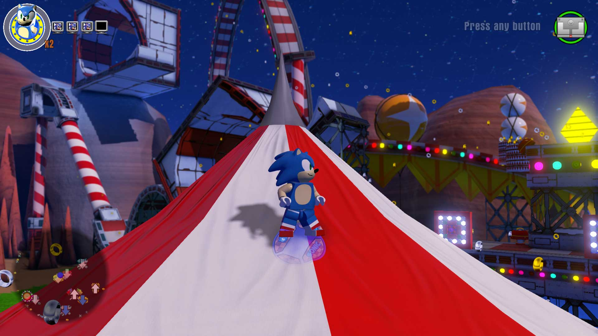 Carnival Night Zone within the Sonic dimension world