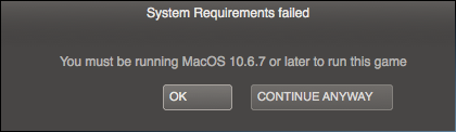 Portal 2 requires Mac OS 10.6.7