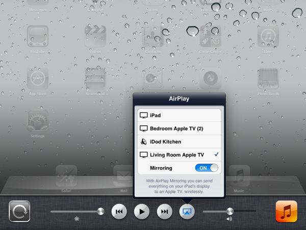 AirPlay Mirroring on iOS 5