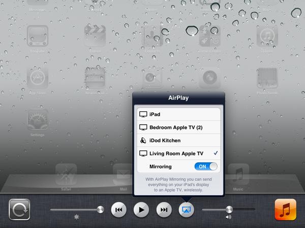 AirPlay Mirroring on iOS 5
