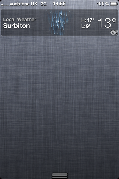 Weather Widget, iOS 5