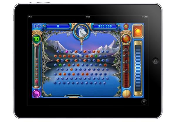 iPad running Peggle at 2x resolution