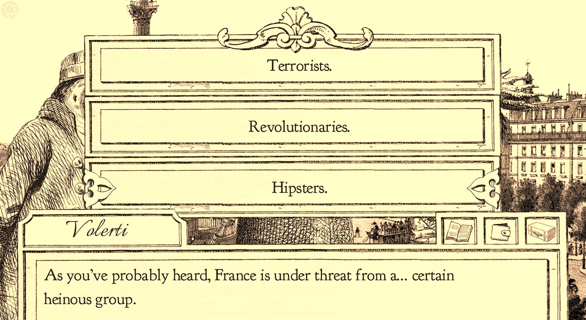 Curse those revolutionary hipster terrorists!