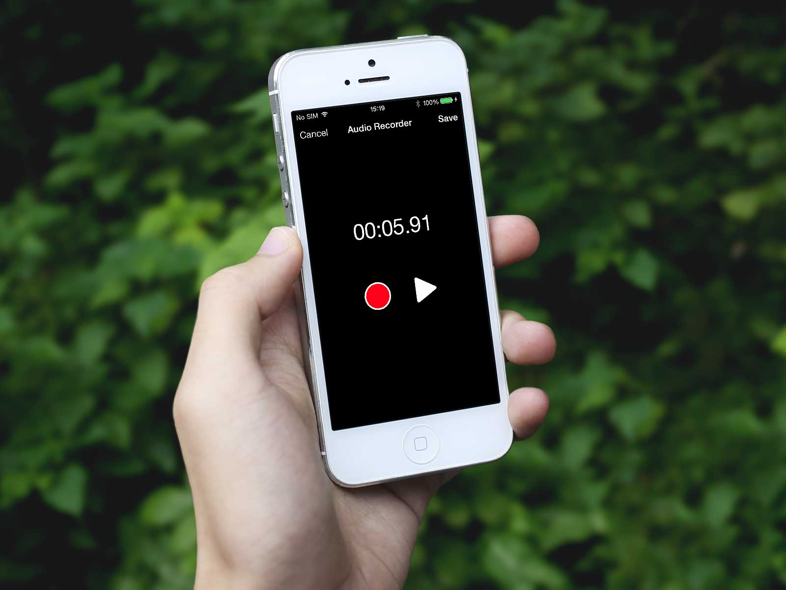 A simple Audio Recorder controller in Swift (for iPhone)