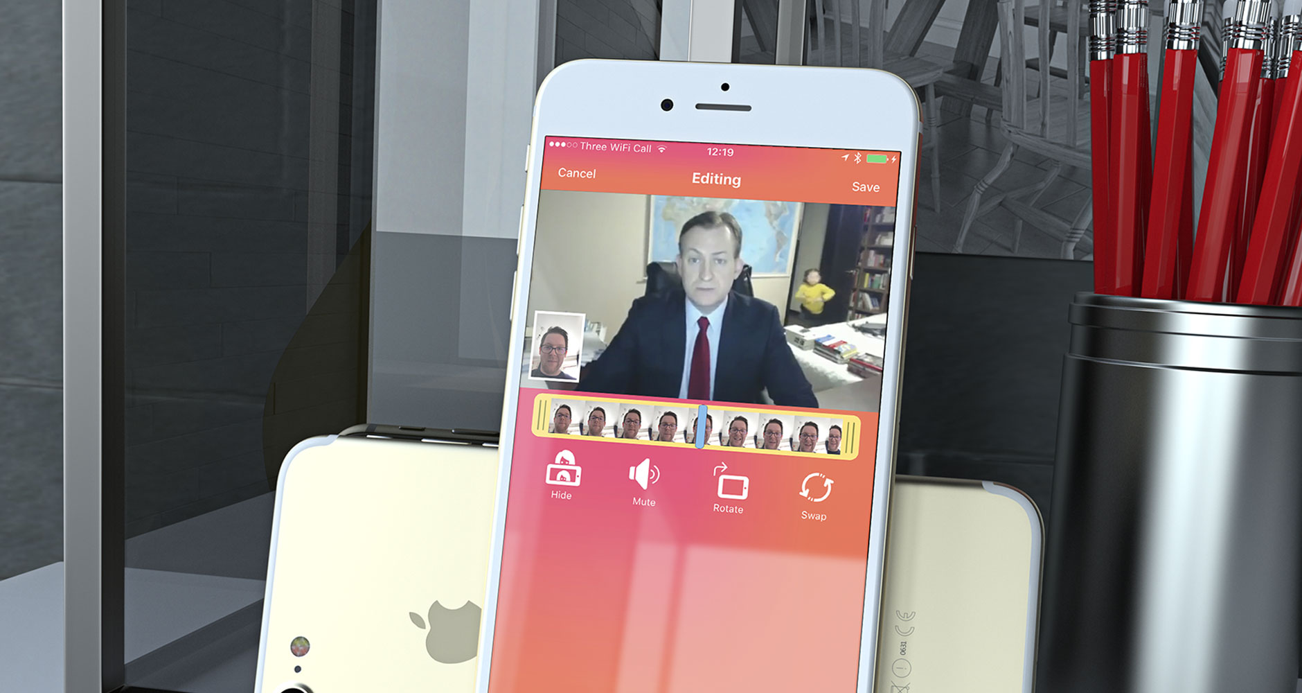 Reaction Cam for iPhone by freelance app developer Ben Dodson