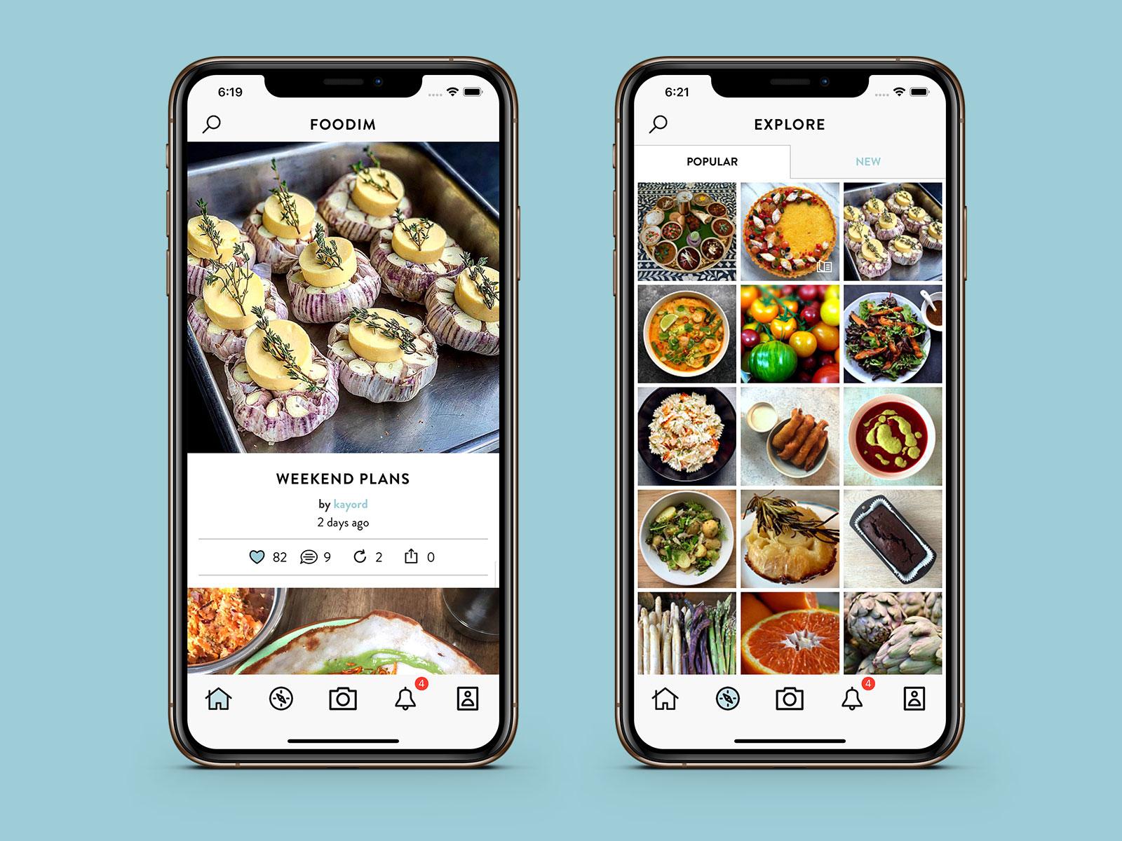 Foodim for iPhone