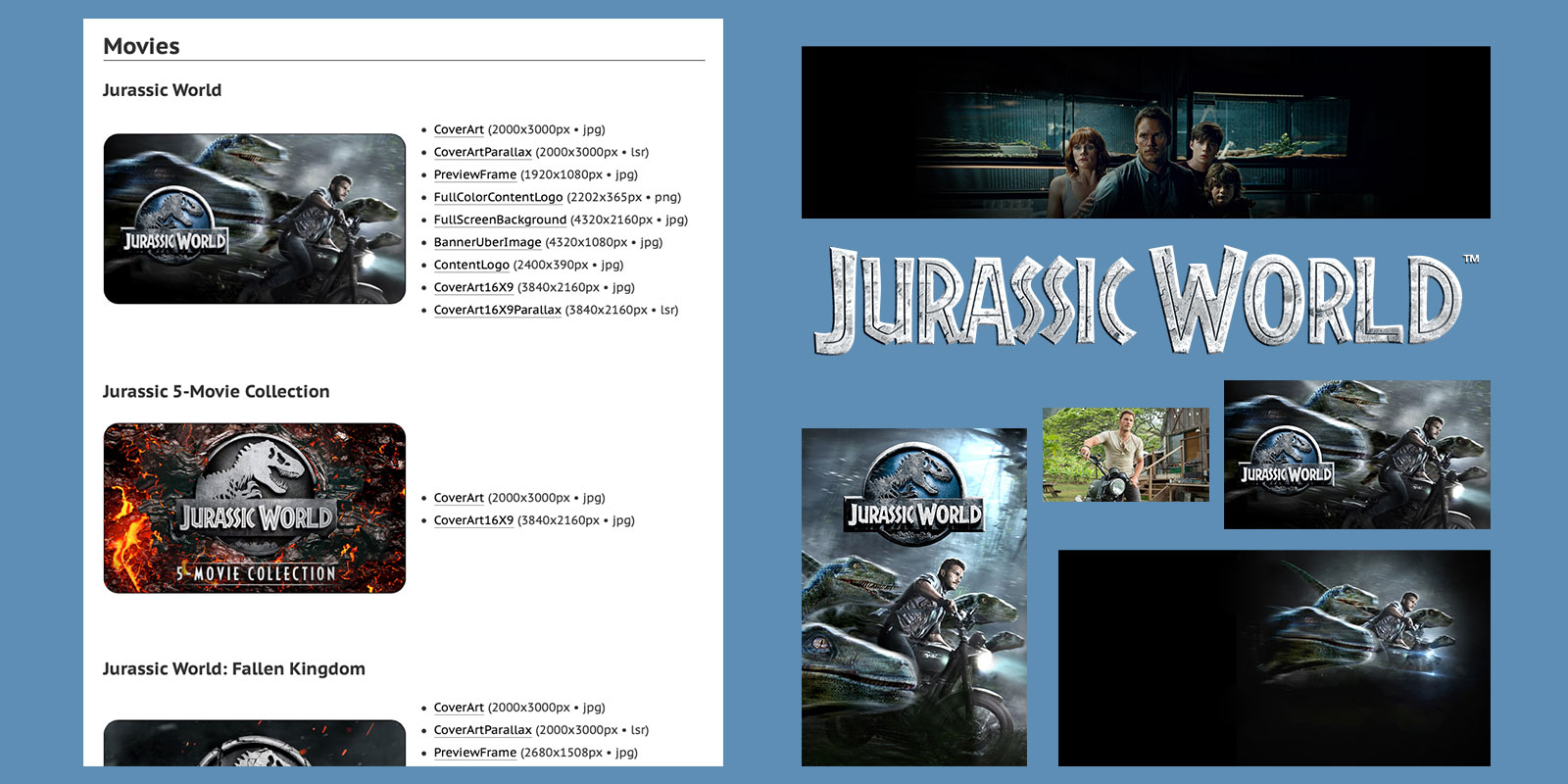 Jurassic World in Ben Dodson's Apple Movies Artwork Finder